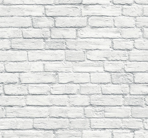 Rendered Grey/White Brick Wallpaper 3D