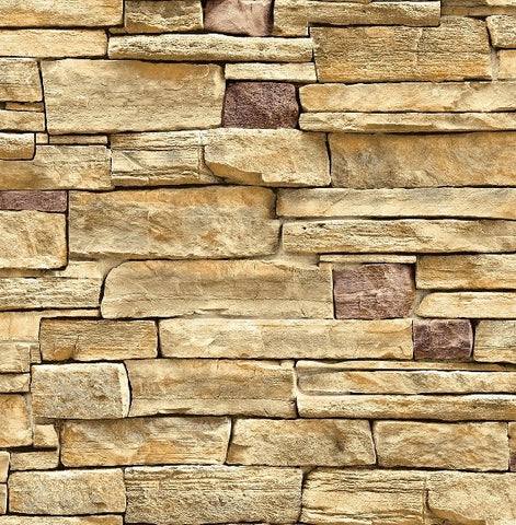 3D Stack Stone Sandstone Brick Rock Wallpaper