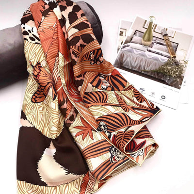 "100% Silk Scarf Extra Large Square Scarf | 51"" x 51"" 