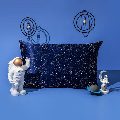 19 Momme Print Constellation Pillowcase with Hidden Zipper