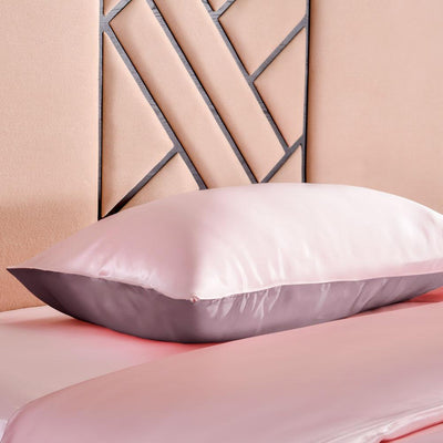 High end 19 Momme | Silk Contrast Color Pillowcase | 5 Combinations
