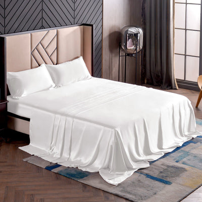 High end 19 Momme | Silk Bedding Sheet Set (4pcs) | 10 Colors