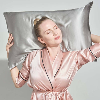 Luxury 22 Momme | Silk Pillowcase | Hidden Zipper Closure | 10 Colors