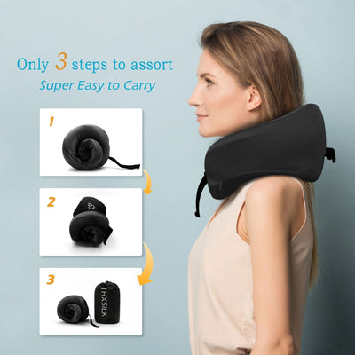 Silk Travel Neck Pillow | 4 Colors