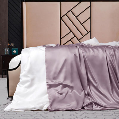 Silk Comforter w Silk Duvet Cover | Spring & Fall | 10 Colors