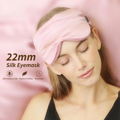 Luxury 22 Momme Mulberry Silk Sleep Eye Mask | 10 Colors