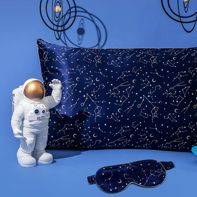 19 Momme Constellation Silk Pillowcase W Eye Mask Gift Travel Set