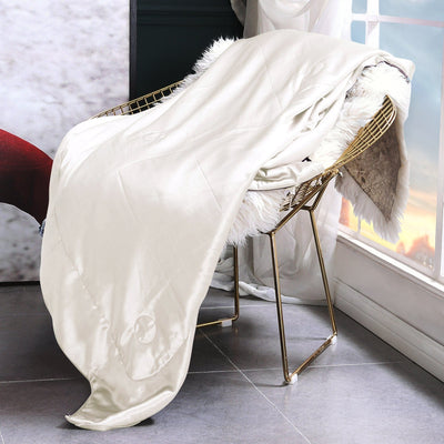 High End | Silk Blanket Sofa Throw | 10 Colors