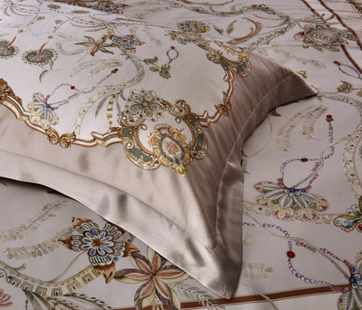 25 Momme Silk Duvet Cover Set 4pcs Queen Size | 5 Patterns