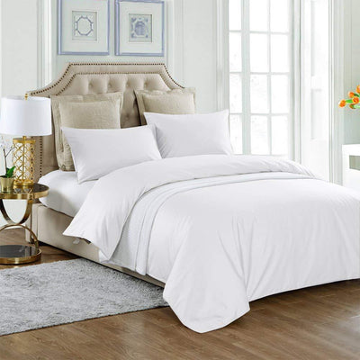 4 pieces Cooling Silk Comforter Set with 400TC Removable Cotton Sateen Duvet Cover | Summer | 6 Colors-Silk THX Inc.