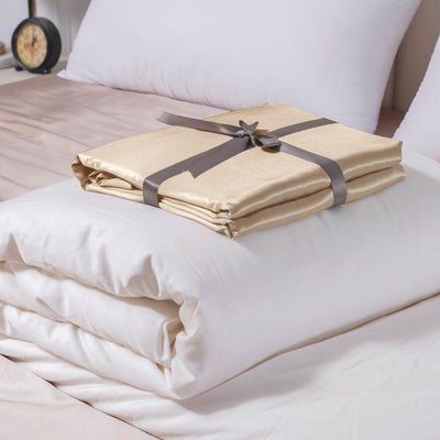 High End | Silk Comforter w Duvet Cover | Spring & Fall | 10 Colors