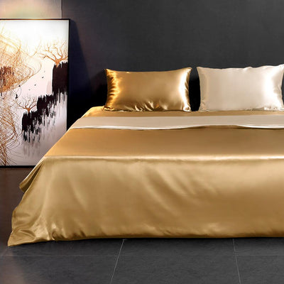 High end 19 Momme | Silk Contrast Color Duvet Cover Set (3Pcs) | 17 Combinations