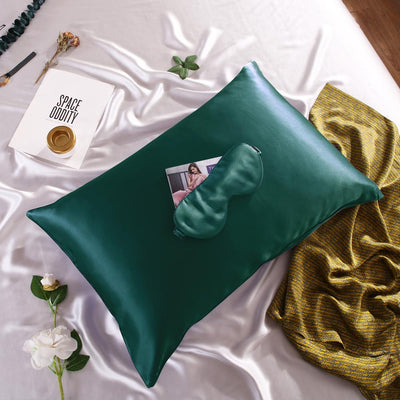 High end 19 Momme | Silk Pillowcase w Eye Mask Travel Gift Set | 10 Colors