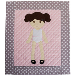 Shipped Hard Copy Pattern - Paper Doll Blanket Quilt Pattern - Girl