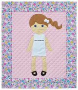 Paper Doll Blanket - Customize - Katie