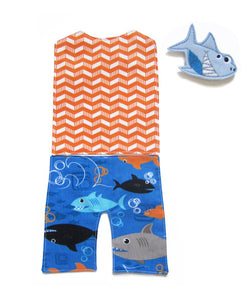 Outfit - Shark Swim Trunks