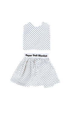 Digital Pattern PDF Download Paper Doll Blanket Tank Top and Skirt Pattern