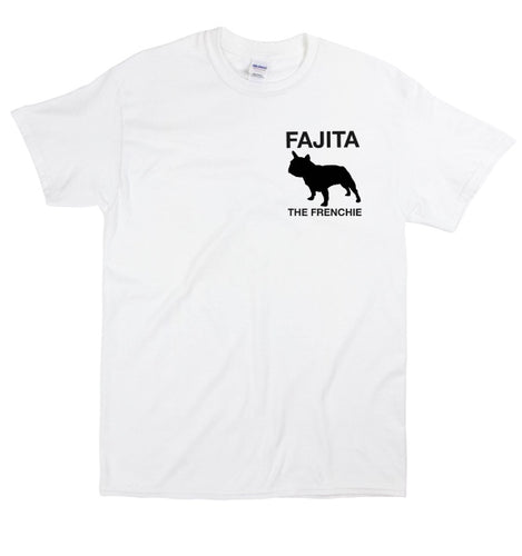 Fajita the Frenchie white short sleeve shirt