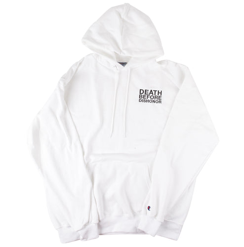 DBD Hoodie classic logo embroidered on white Champion sz.LG 1/1