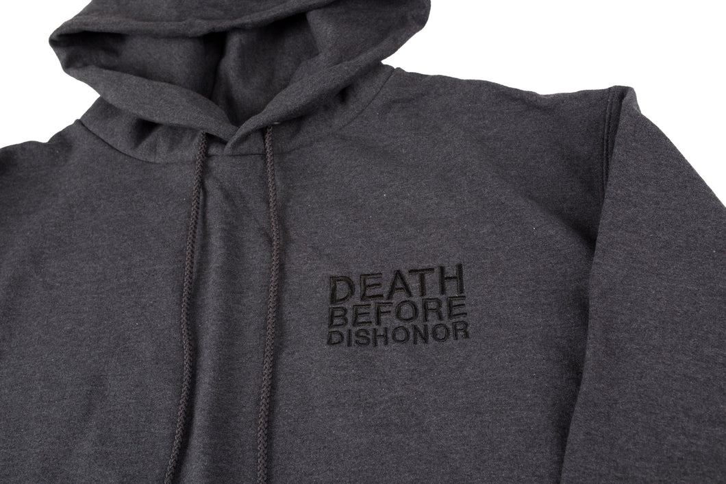 DBD Hoodie Classic Logo Embroidered On Grey Champion 1/1 sz.LARGE