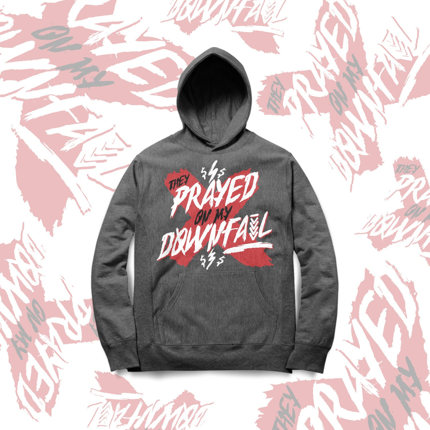 THEY PRAYED ON MY DOWNFALL HOODIE - GREY (UNISEX)