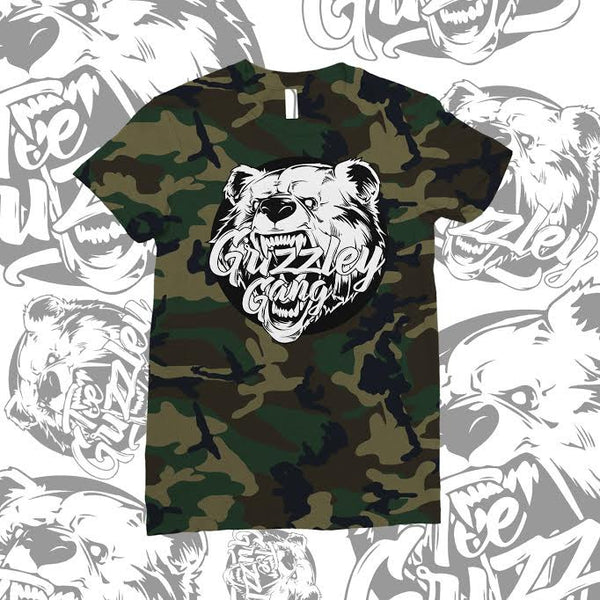 GRIZZLEY GANG CAMO T SHIRT