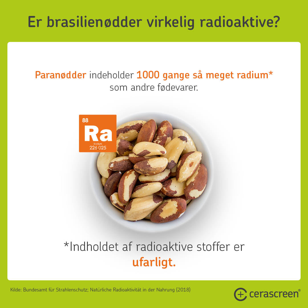 Are Brazil nuts radioactive?