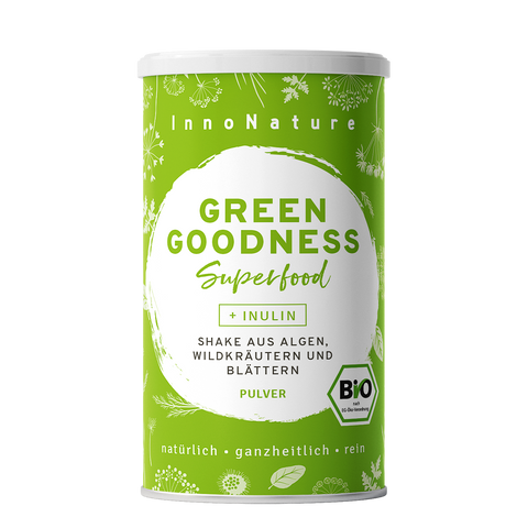 Green Goodness Superfood Shake mit 12 Superfoods - 20 Portionen
