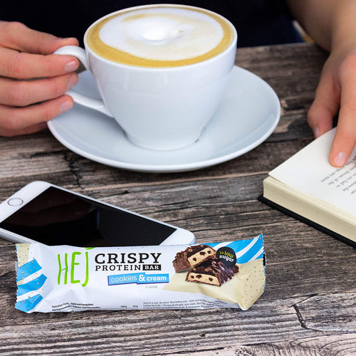 HEJ - Crispy Protein Bar Cookies & Cream 12x45g