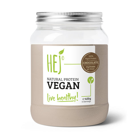 HEJ - Natural Protein Vegan 450g | Chocolate
