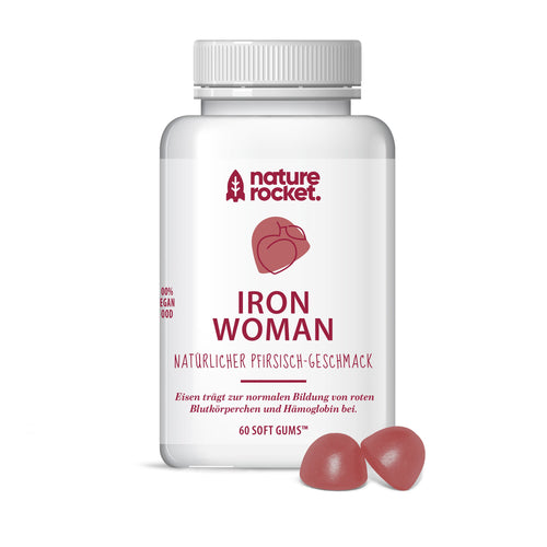 Nature Rocket Iron Woman Fruchtgummies- 60 Stück