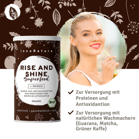 InnoNature Rise and Shine Superfood Shake - 20 Portionen