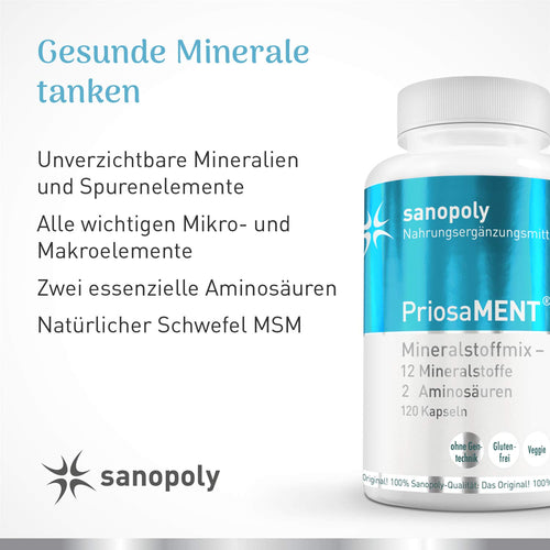 Sanopoly PriosaMENT® - Universeller Mineralstoffmix in Kapselform
