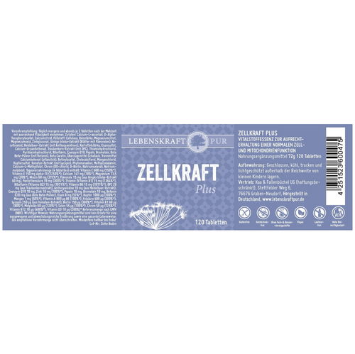 Zellkraft Plus - 120 Tabletten