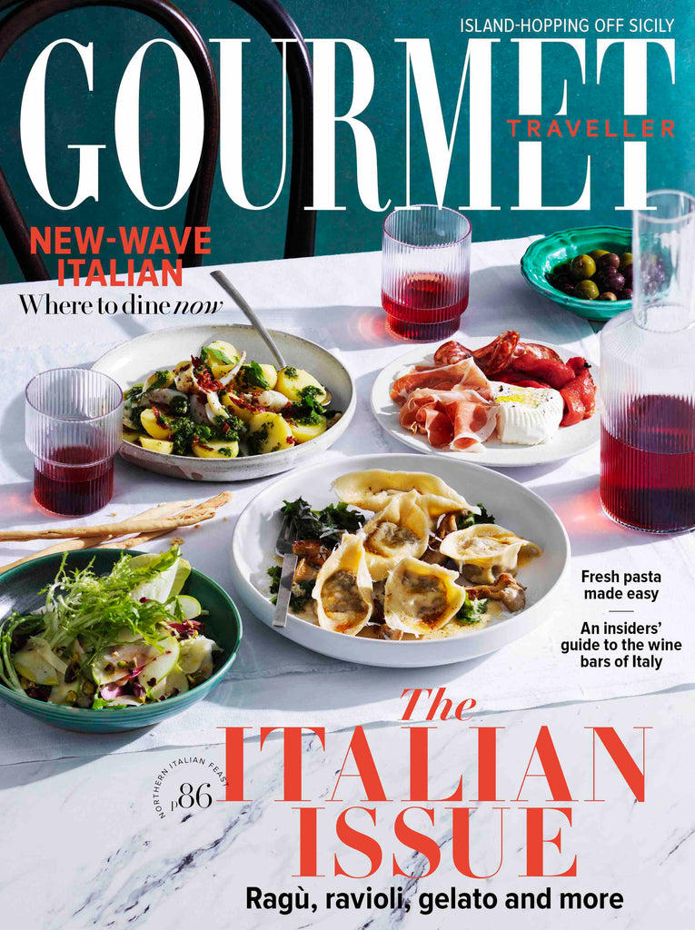 ALEX AND TRAHANAS GREEN DISH CERAMICS PUGLIA ITALY GOURMET TRAVELLER MAY 2019