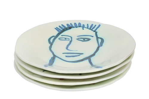 Apulian Face Dinner Plates 28cm, set of 4