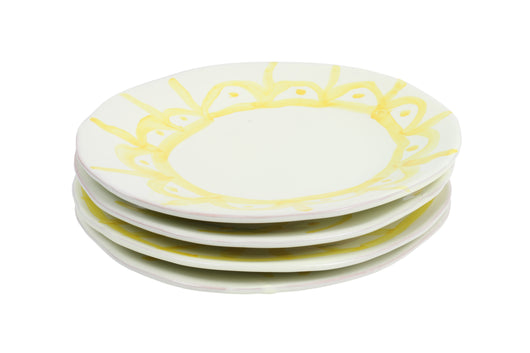 Entrée Plate, Yellow set of 4