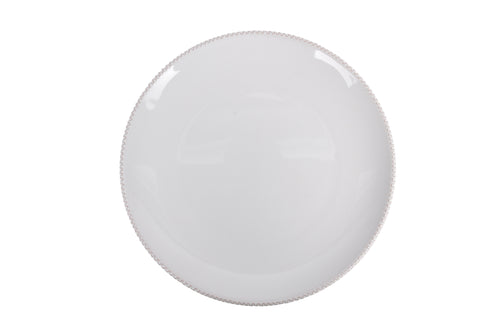 Apulian Plate, White with trim 25cm