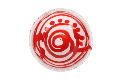 Apulian Small dipping bowl, red and white
