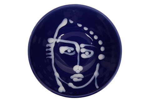 Apulian dessert bowl, blue and white