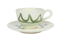 Load image into Gallery viewer, Apulian Tea cup and saucer, green