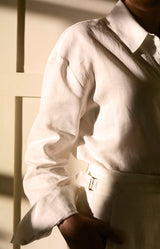 Aloe Vera-Infused Italian Linen Pants, White