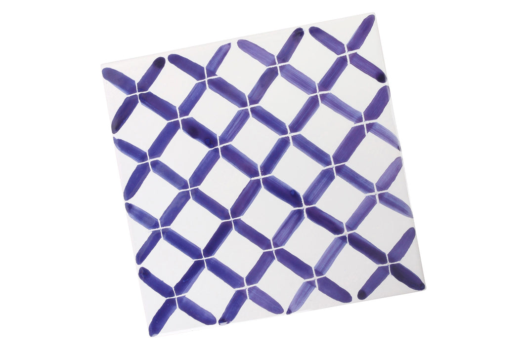 Apulian Blue hot dish tile