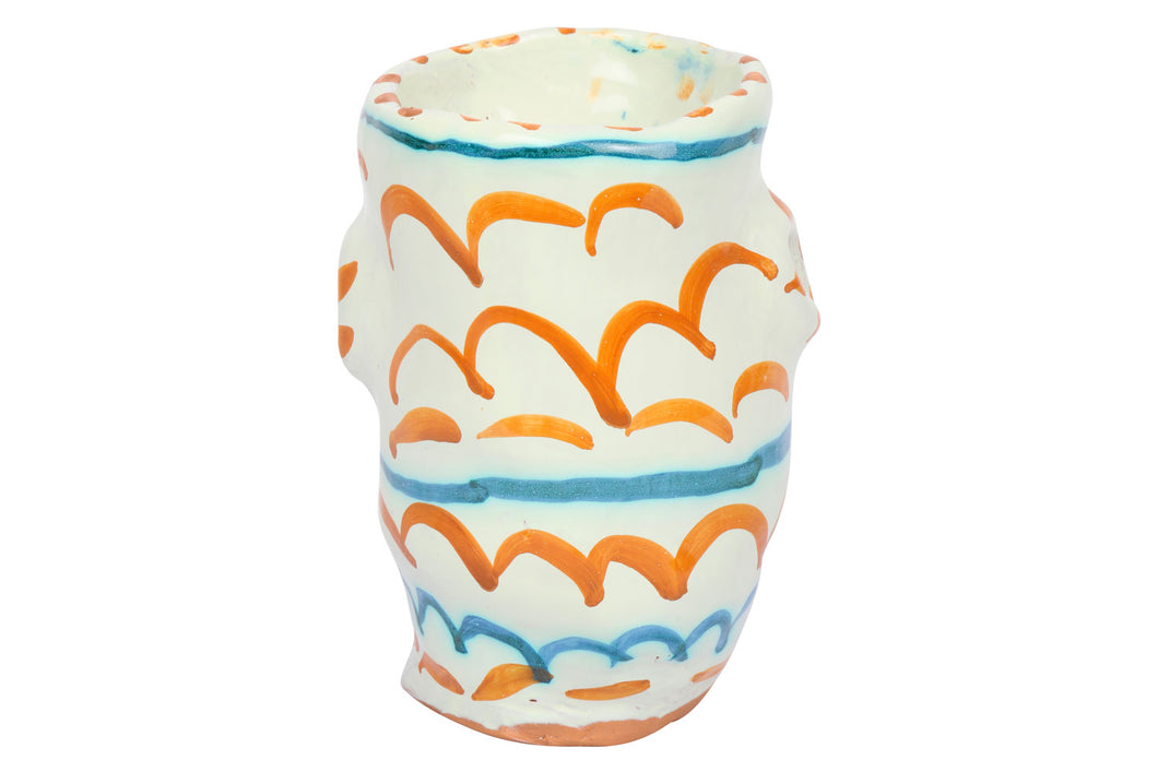 Apulian Orange and Blue Vase