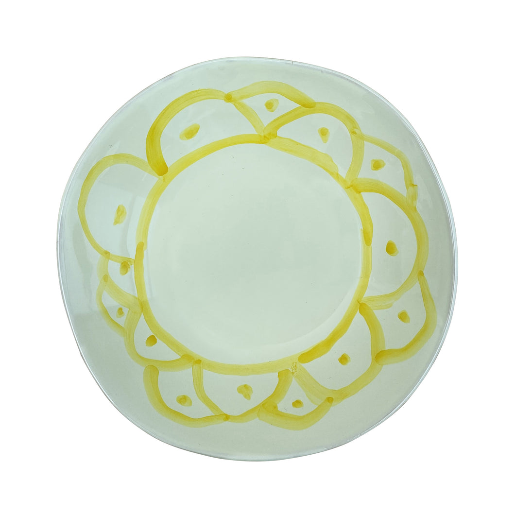 Ceramic bowl, Yellow - Puglia, Italy