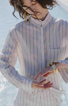 Load image into Gallery viewer, Italian Linen Summer Long-Sleeve Shirt, Stripe
