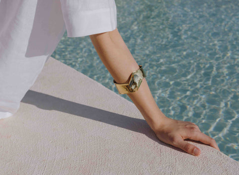 LOUISE OLSEN X ALEX AND TRAHANAS Gold-tone Olive Leaf Bangle - regular fit
