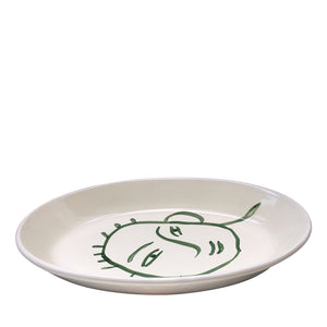 Apulian Large Oval Serving Plate, Green