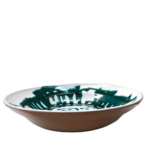 Apulian Large Salad Serving Bowl, Green