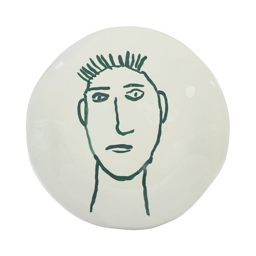 Apulian Face Dinner Plate 28cm, Green